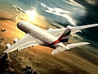 Airbus 380 de Emirates.